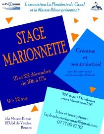 stage marionnette cr ation et manipulation la maison bleue maison de quartier rennes nord. Black Bedroom Furniture Sets. Home Design Ideas