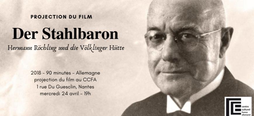 """Projection du film """"Der Stahlbaron/Le baron de l'acier"""" Cinéma"""