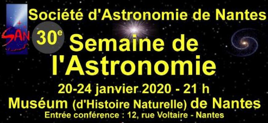 30e semaine de l'Astronomie Conférence/Débat