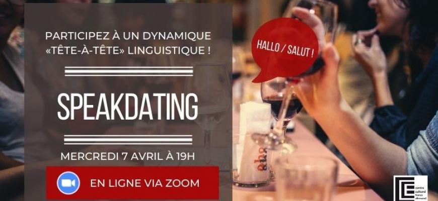 Speak-Dating franco-allemand du mois d'avril Rencontre