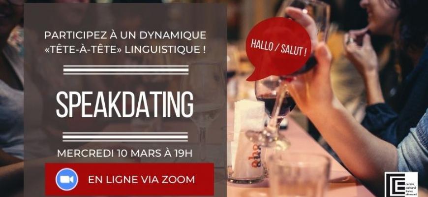 Speak-Dating franco-allemand du mois de mars Rencontre