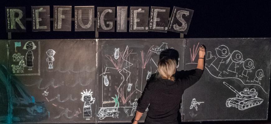 Réfugié.e.s en 9 lettres Théâtre