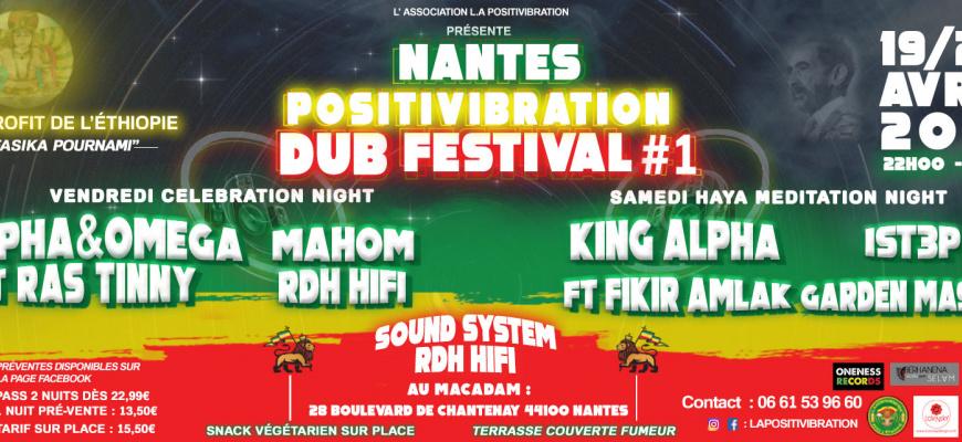 Nantes Positivibration Dub Festival #1 Reggae/Ragga/Dub