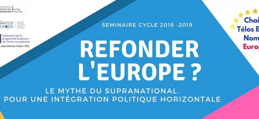 Refonder l'Europe 2018-2019