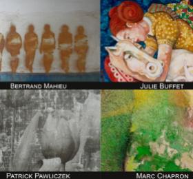 Image Accrochage collectif des artistes de la galerie Art contemporain