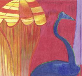 Exposition de dessins aux crayons de couleur /// Maureen Lasne
