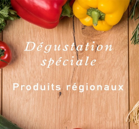 Dégustation spéciale produits régionaux dans le noir ?