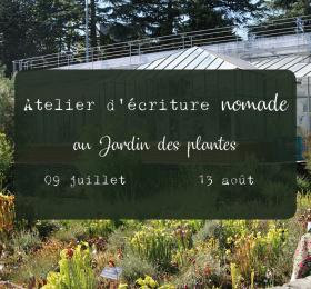 Image Atelier d'écriture nomade au jardin des plantes Atelier/Stage