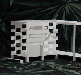 Image Installation: La cabane du jardin Sainte-Croix Visites et sorties