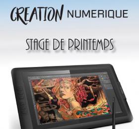 Image Stage de Printemps - Création numérique (5 jours) Atelier/Stage