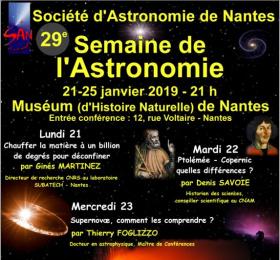 29ème semaine de l'astronomie