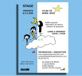 Image Théâtre gestuel, fabrication de décors et création de spectacles, stage 6-12 Atelier/Stage