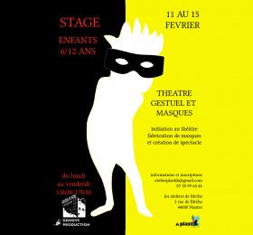 Image Stage 6-12 ans, théâtre gestuel et masques Atelier/Stage