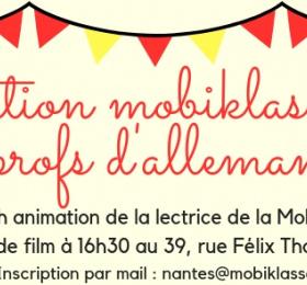 Atelier Mobiklasse pour les professeurs d'allemand