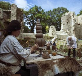 Image La construction d'un château-fort Animation