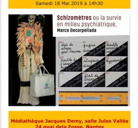 Image Marco Decorpeliada - Schizomètres ou la survie en milieu psychiatrique Conférence/Débat