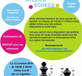 Image Atelier jeux d'échecs Atelier/Stage