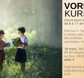 """""""Vorlesekurs"""", pour les enfants de 6 à 11 ans"""