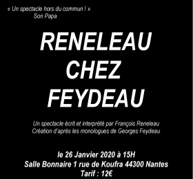 Image Reneleau chez Feydeau ! Théâtre