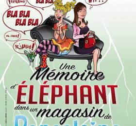 Image Une mémoire d'éléphant (dans un magasin de porcelaine) Humour